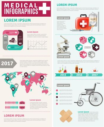 Medical Healthcare Worldwide Research  Infographic Poster