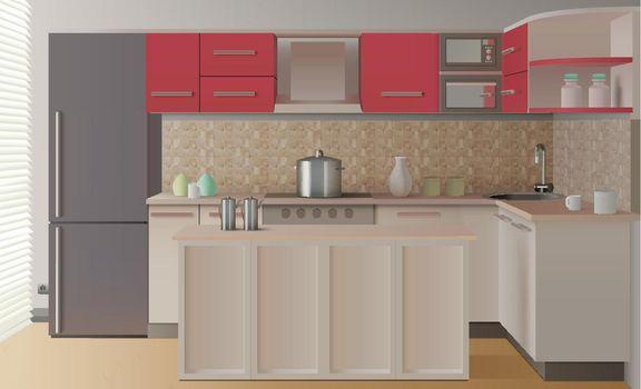 Kitchen Interior Composition