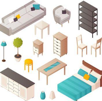 Isometric Home Furniture Set