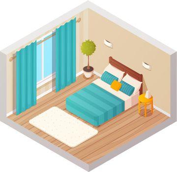 Living Room Isometric Interior