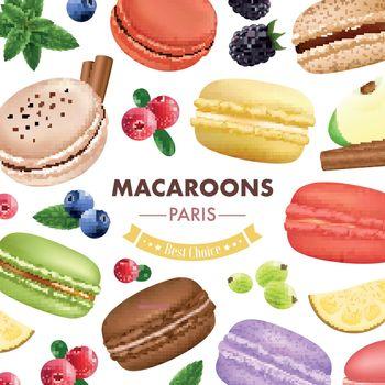 Sweet Macaroon Goods Background