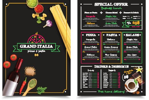 Italian Restaurant Menu With Special Offer