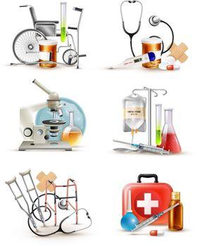 Medical Supply Elements Set