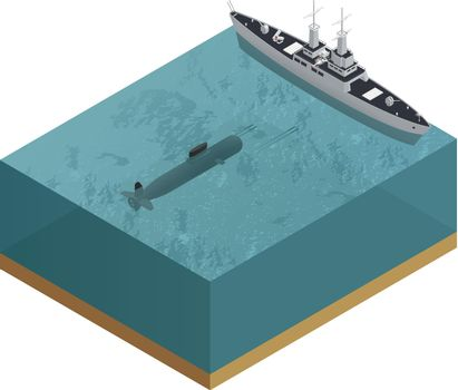 3d Military Boats Composition