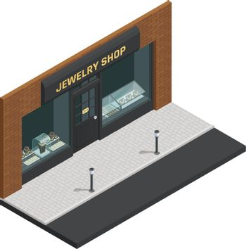 Jewelry Shop Isometric Composition