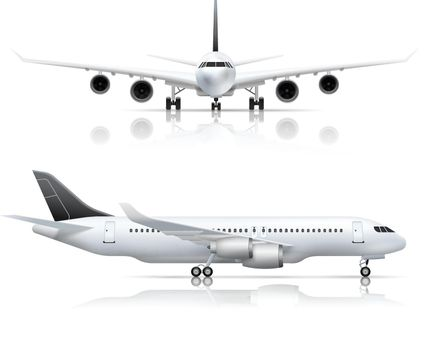Airliner Front Side Realistic View