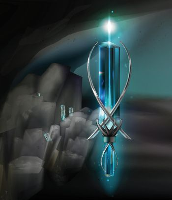 Vector magical amulet