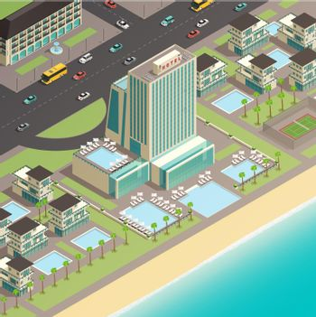 Multistory Building Of Luxury Hotel In Coastal Area
