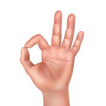 Hand showing okay