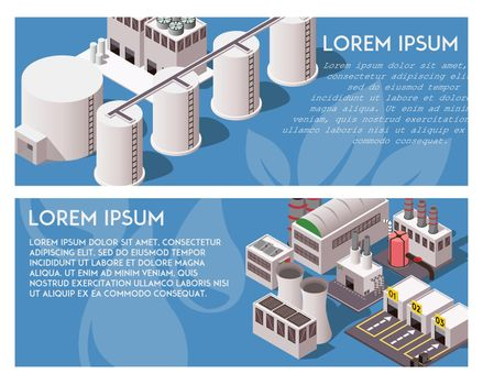 Isometric Factory Banners