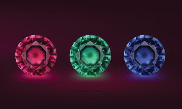 Colored precious stones