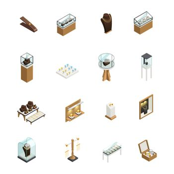 Jewelry Shop Isometric Elements