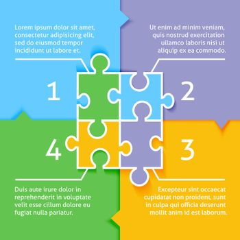 Puzzle infographic background