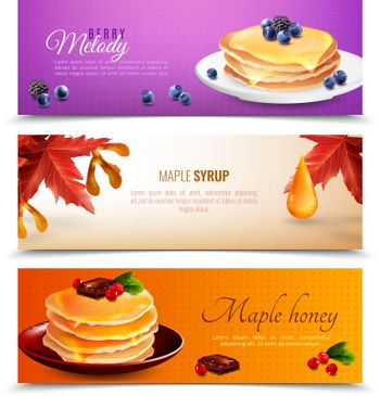 Maple Syrup Banners Set