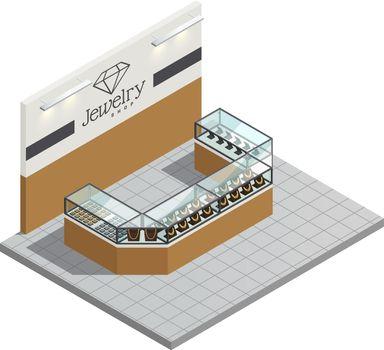 Jewelry Store Isometric Interior