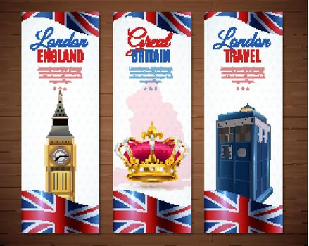London Vertical Banners Collection