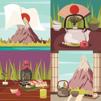 Japan Culture Concept Orthogonal Icons