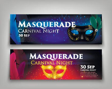Masquerade Invitation Banners