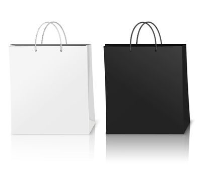 Shopping Bags Mockup Realistic Composition