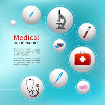 Medical bubble infographic