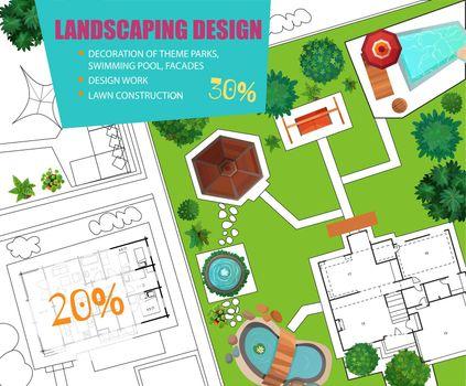 Landscape Design Top View Poster