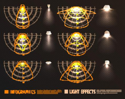 Light Effects Infographics