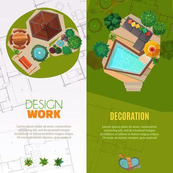 Landscape Design Top View Banners