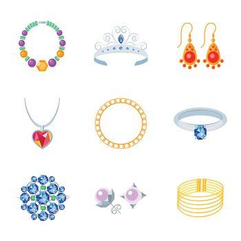 Jewelry Icons Flat