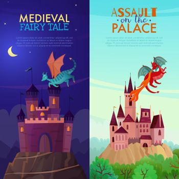 Medieval Vertical Banners Set