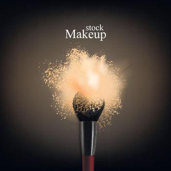 Makeup Brush Powder Background