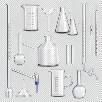 Laboratory Glassware Transparent Set