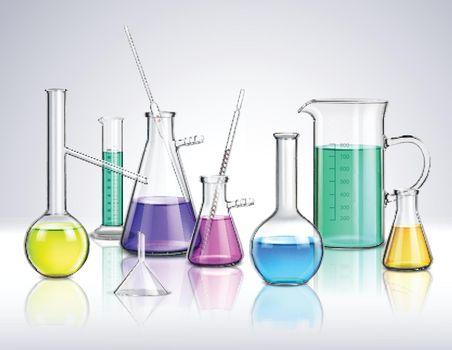 Laboratory Glassware Realistic Composition