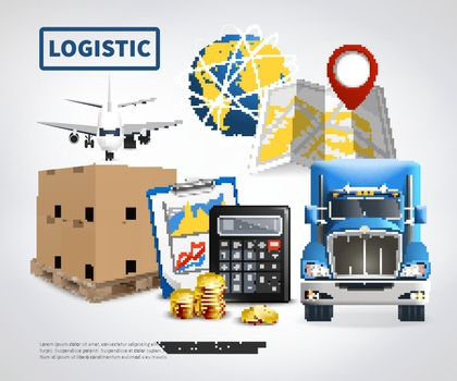 Logistic Colored Poster
