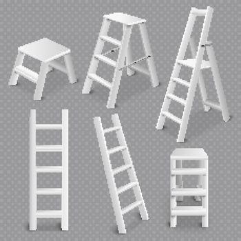 Ladders Realistic Set Transparent