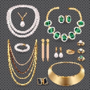 Jewelry Accessories  Transparent Set