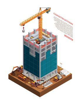Construction Equipment Isometric Composition