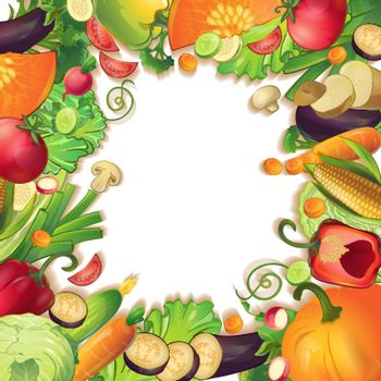 Vegetables Circle Concept