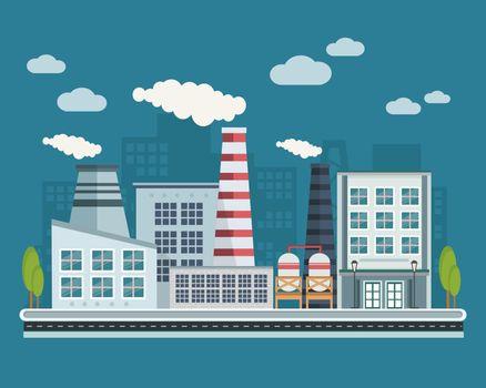 Manufacturing Buildings Illustration