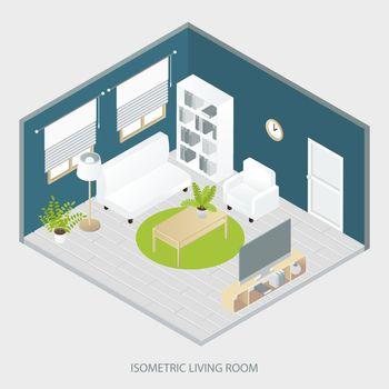 Isometric Living Room