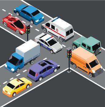Isometric City Transport Template