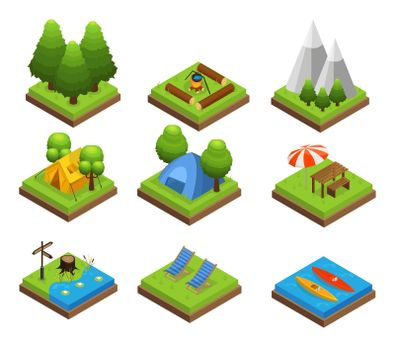 Isometric Traveling Camping Collection