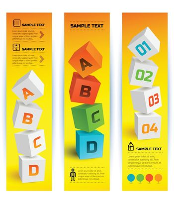 Infographic Geometric Vertical Banners