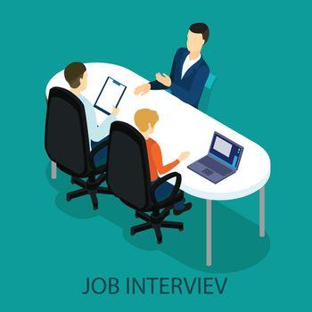 Isometric Recruitment Process Concept