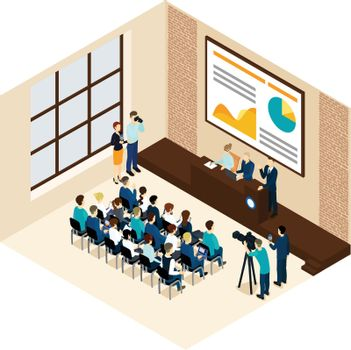 Isometric Business Conference Concept