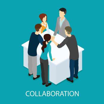 Isometric Business Partnership Template