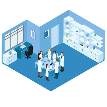 Isometric Science Laboratory Concept