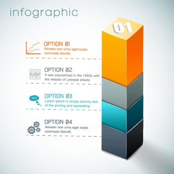 3d Colorful Column Infographics