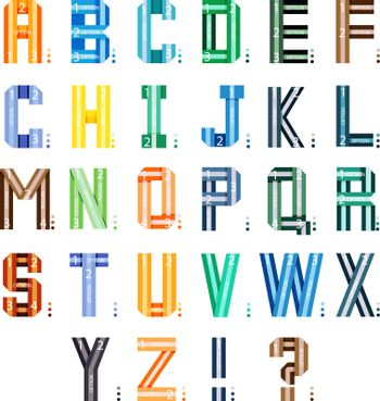 Infographic ribbons font