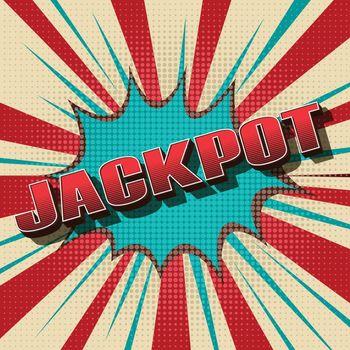 Jackpot comic retro background