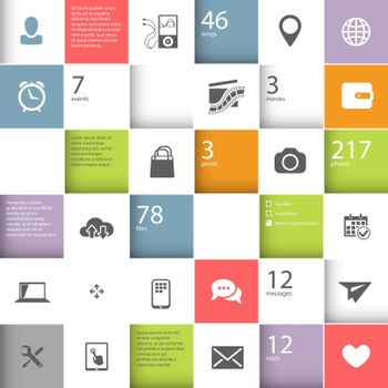 Infographic squares template